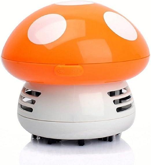 Desconocido Mini Aspiradoras Aspiración de Polvo Mesa Escritorio Forma de Setas Esquina Limpio Barredora Linda - Naranja: Amazon.es: Hogar