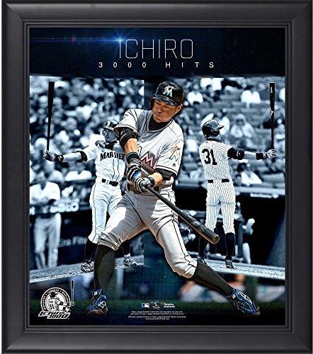 ichiro-suzuki-miami-marlins-framed-15-x-17-3000-hits-collage-fanatics-authentic-certified-mlb-player