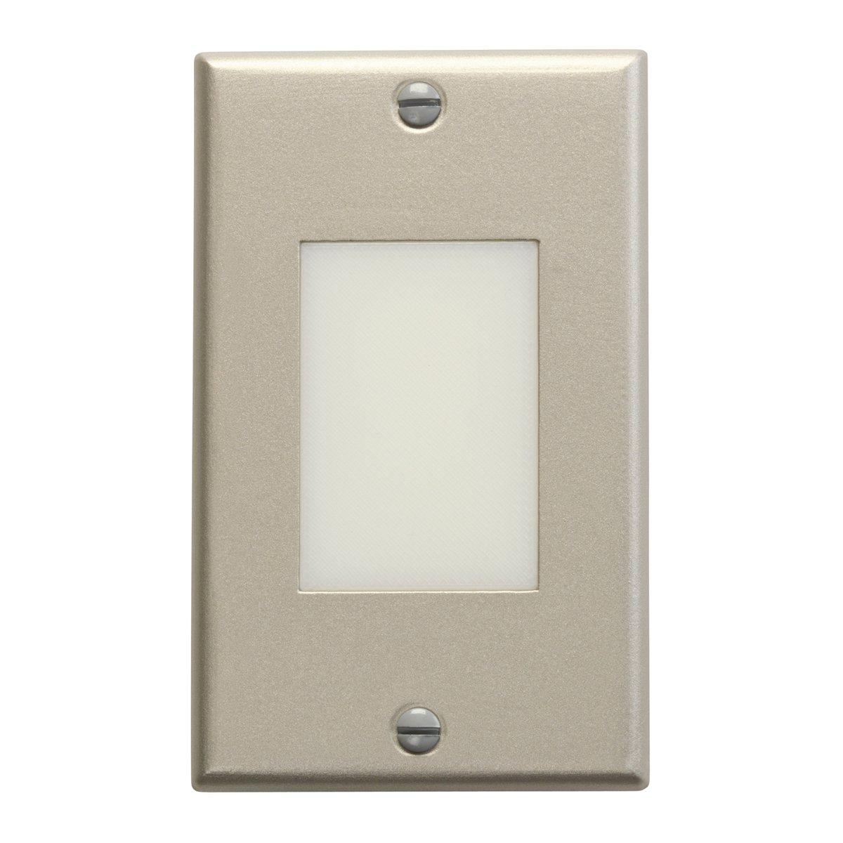 Kichler  12654NI Lens Face Design Pro Interior LED Indoor Step and Hall Light Brushed Nickel