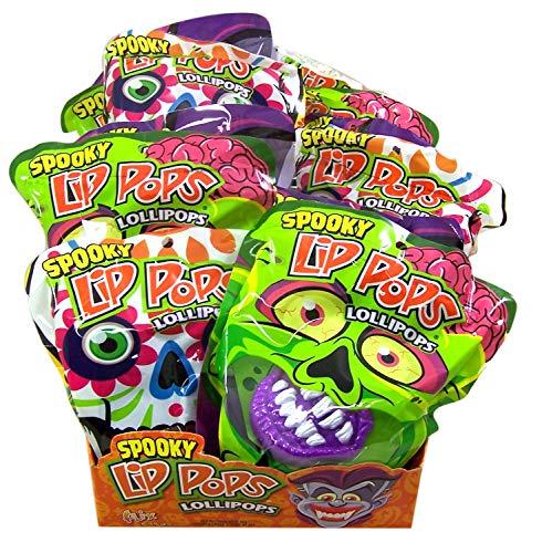 Halloween Spooky Lips Lip Pop Fruit Flavored Lollipops, Pack of