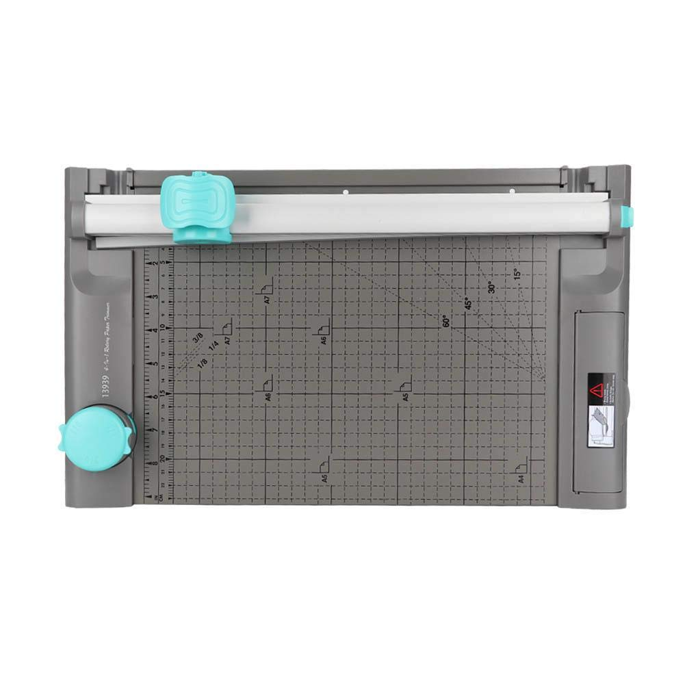 Paper Cutter Rolling Trimmer Machine Multifunctional A4 Paper Manual Roller Paper Trim Business Card by KEYREN