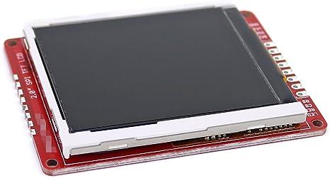 """2.0/"""" SPI TFT LCD Shield Breakout Modul für Arduino Nano UNO R3 Board 5V//3.3V DL"""