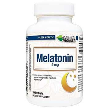 Image Unavailable. Image not available for. Color: Natures Wonder Melatonin 5mg ...