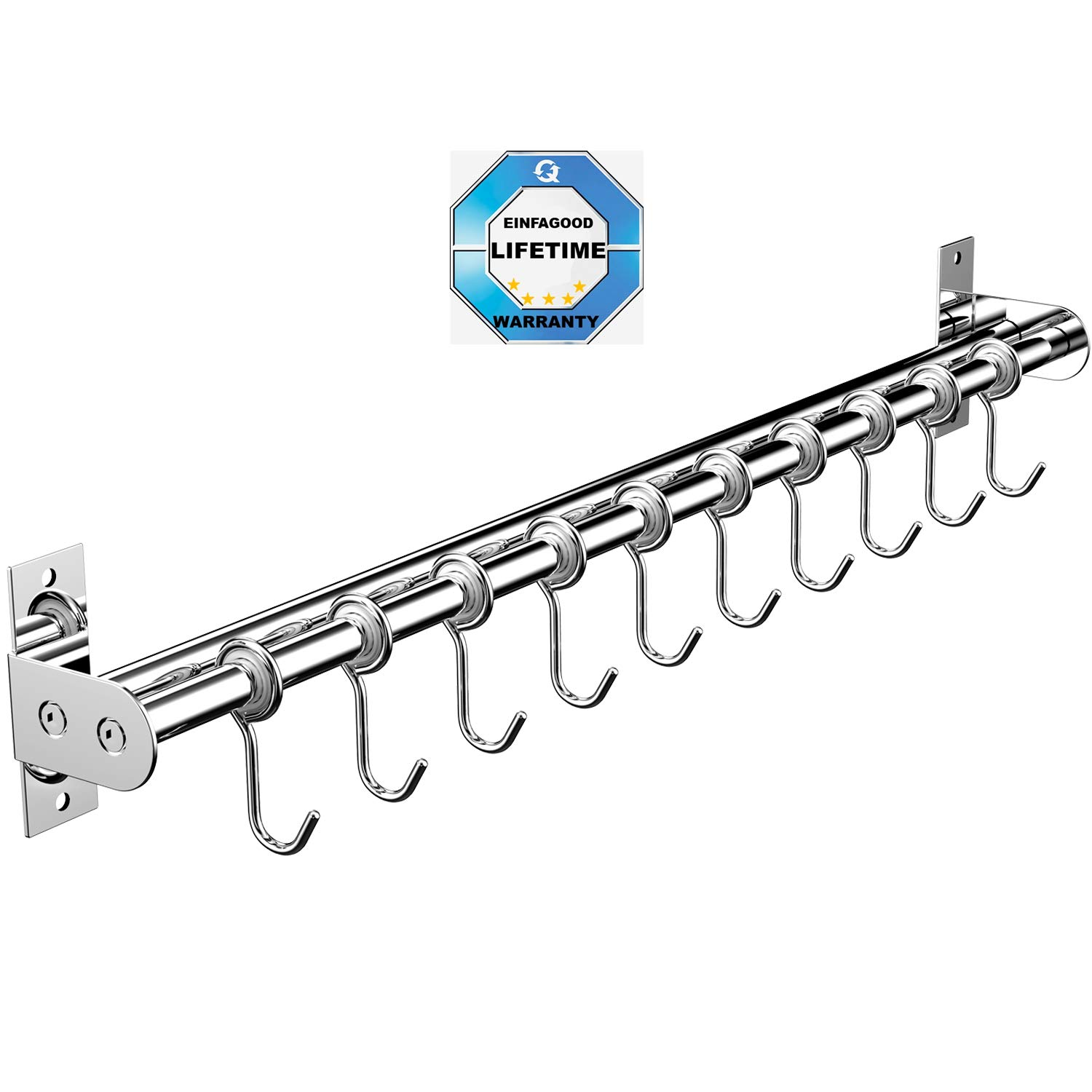 Amazon.com: EINFAGOOD - Perchero de pared con estante doble ...