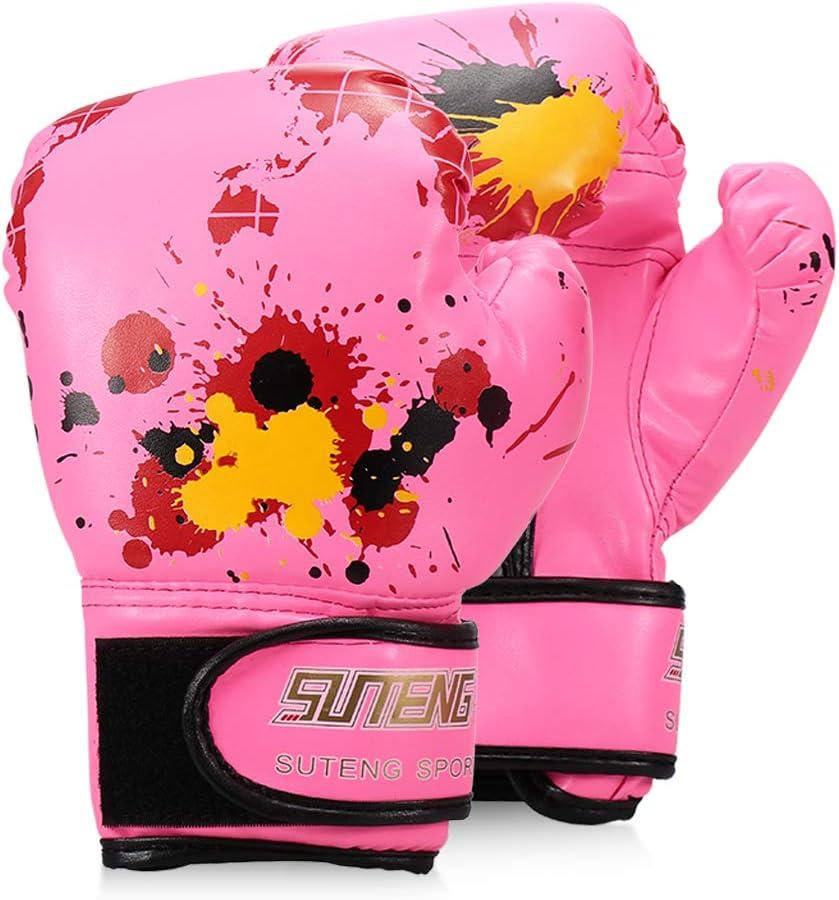 Fighting Gloves for Boy//Girls Strike Boxing Training Safety Gloves for Kids Map Boxing Gloves Walmeck