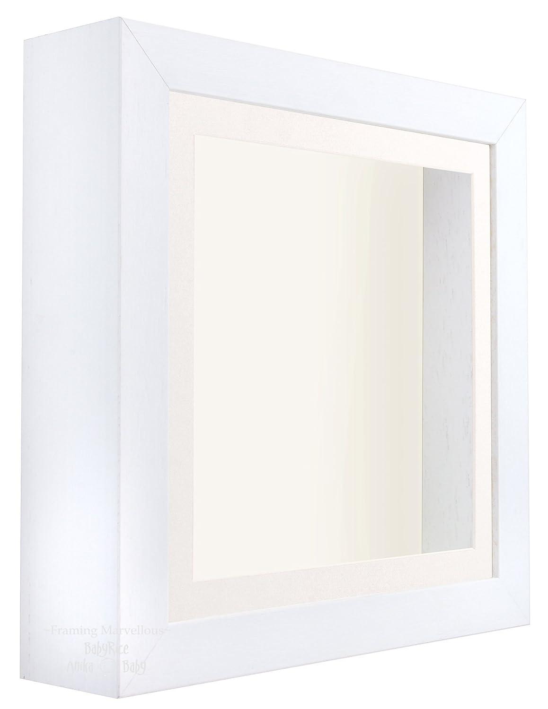 Amazon.de: Weiß Shadow Box Rahmen Tief Display Bild Foto 3D ...