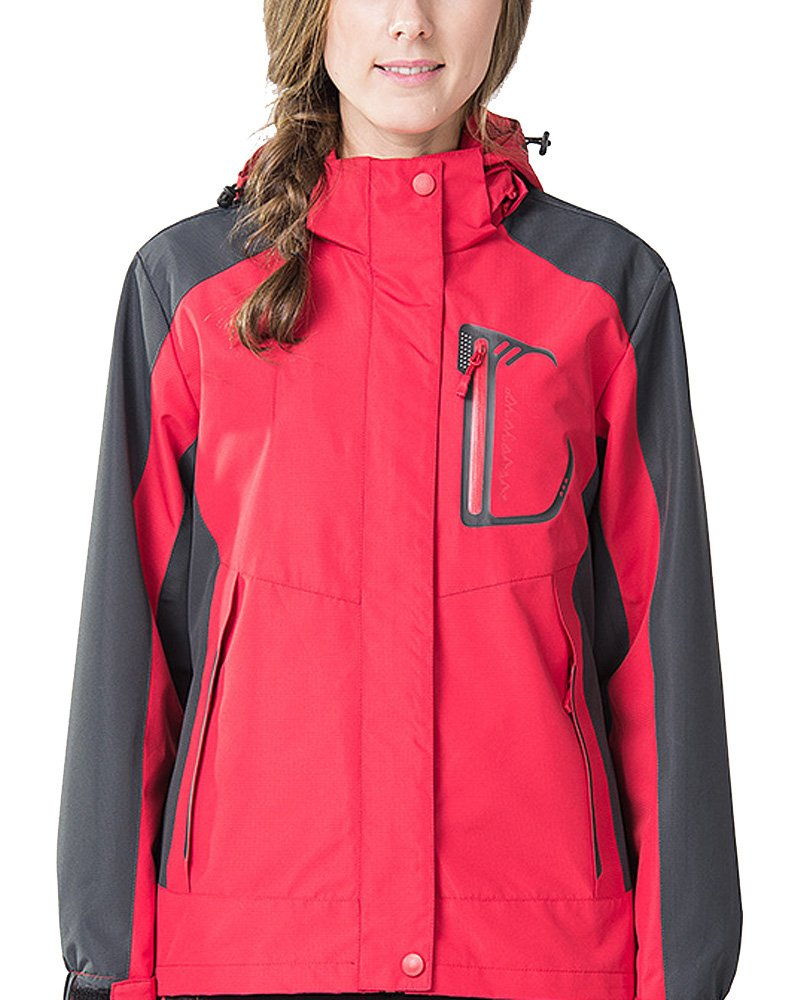 Jessie Kidden Waterproof Jacket Womens Rain Jacket Raincoat Ladies Outdoor Hooded Softshell Camping Hiking Mountaineer Running Jackets #M10FF