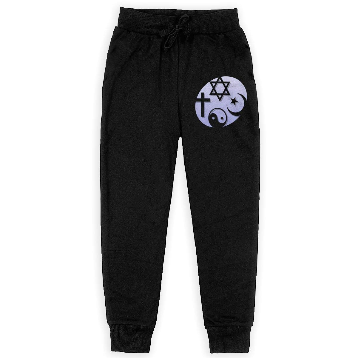 Dunpaiaa Cool Science Coexist Boys Sweatpants,Joggers Sport Training Pants Trousers Black