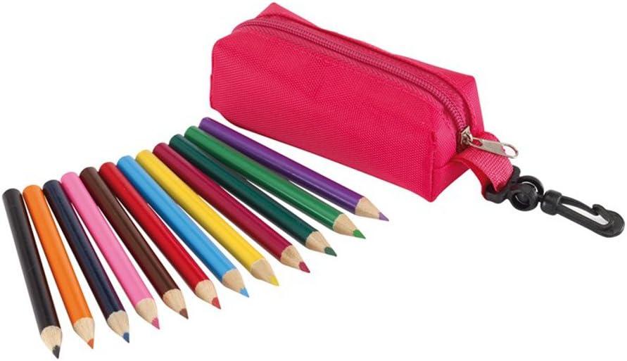 Estuche pequeño con 12 lápices de colores a elegir (rosa): Amazon.es: Oficina y papelería