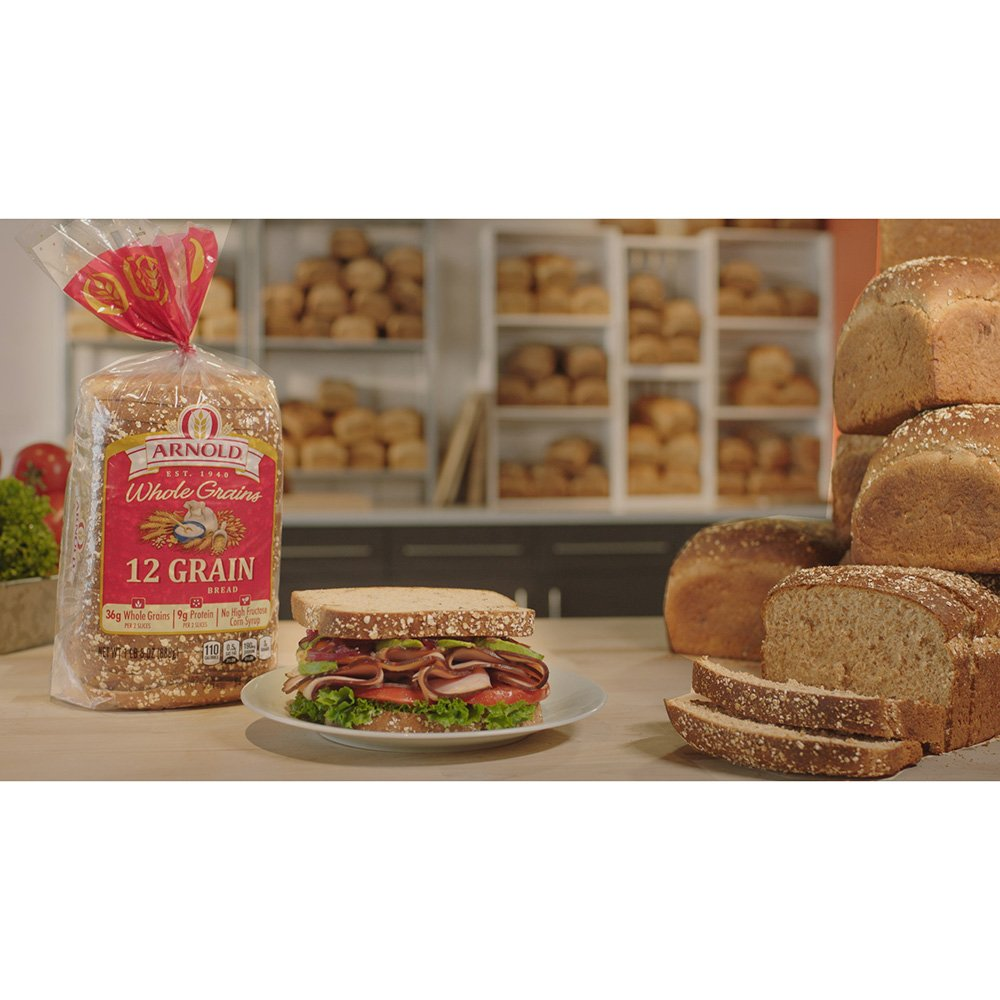 Arnold Whole Grains 12 Grain Sliced Bread, 24 Oz: Amazon.com ...