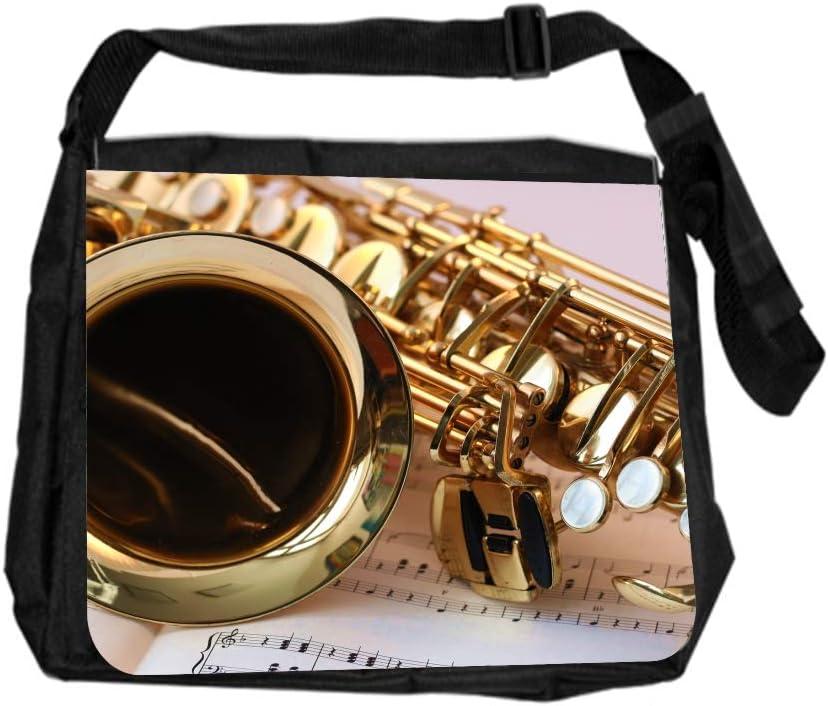 Music Saxophone Cross Body Shoulder Messenger Laptop Bag