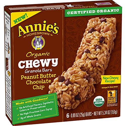Annie Peanut (Annie's Organic Chewy Peanut Butter Chocolate Chip Granola Bars  6 ct  (pack of 12))