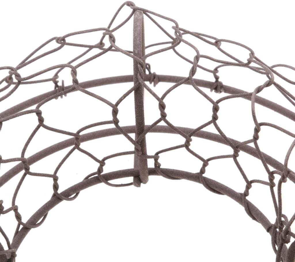 Flameer Round Shaped Metal Wire Wreath Frame Form Hanger Pack of 2