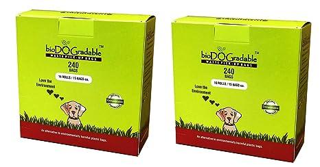 Amazon.com: biodogradable perro bolsas de residuos Certified ...