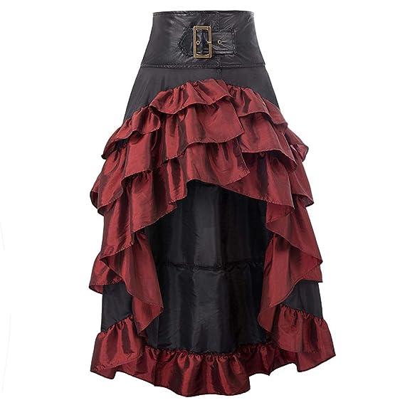 FLYFISH Amelia Gothic Steampunk - Falda para Mujer, Estilo Retro ...