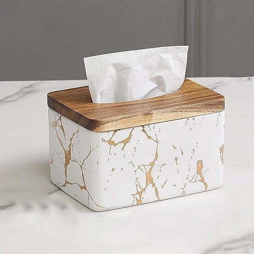 LJBOZ Caja de pañuelos Impermeable, Caja de pañuelos de cerámica ...