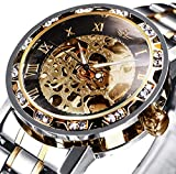Watches, Men's Watches Mechanical Skeleton Classic Luxury Fashion Stainless Steel Self-Winding Waterproof Steampunk