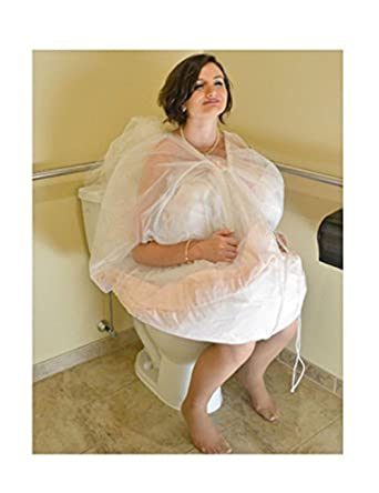 402dca229f70 XYDS Toilet Buddy Petticoat for Bridal Wedding Dress Underskirt Save Your  Dress from Toilet Water - White - M: Amazon.co.uk: Clothing