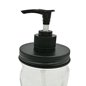 Think Chances Black Aluminum Soap Dispenser Lid Pump Insert Kit Rust and Leakage Proof for Mason, Ball, Canning Jars (1 Pack, Regular Mouth)
