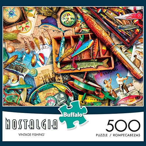 Review Buffalo Games – Aimee Stewart Nostalgia Collection – Vintage Fishing – 500 Piece Jigsaw Puzzle