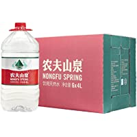 农夫山泉 饮用天然水4L 透明装4L*6桶 整箱