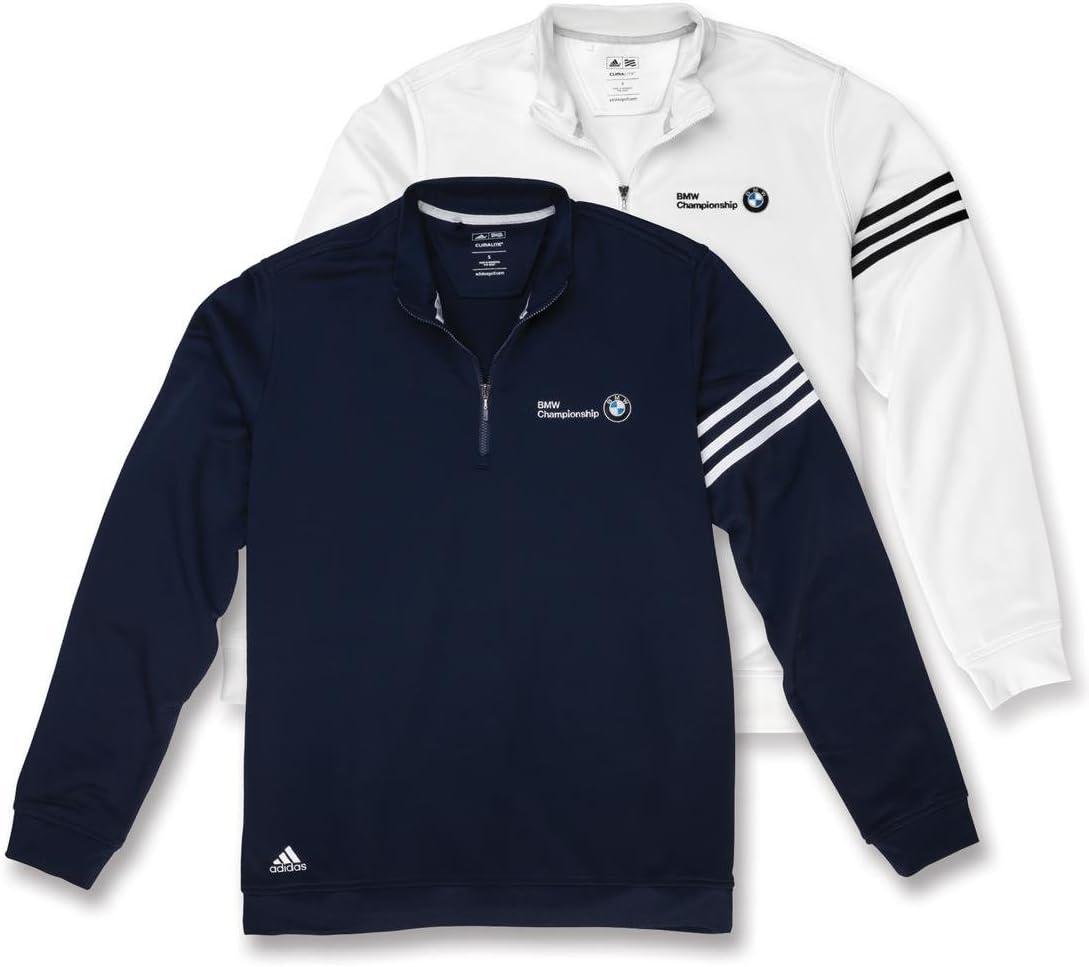 BMW Hombre Adidas Climalite, diseño de rayas suéter blanco: Amazon.es: Coche y moto