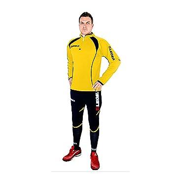 2bf984352a5c Legea Vento Pinocchietto Survêtement Pour Homme Football Sport Jaune Bleu  (M)