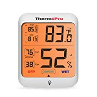 ThermoPro TP53 Igrometro Termometro Digitale, Misuratore di Umidità e Temperatura Interna con Ampio Display LCD Retroilluminato, Termoigrometro Monitor di Comfort Domestico
