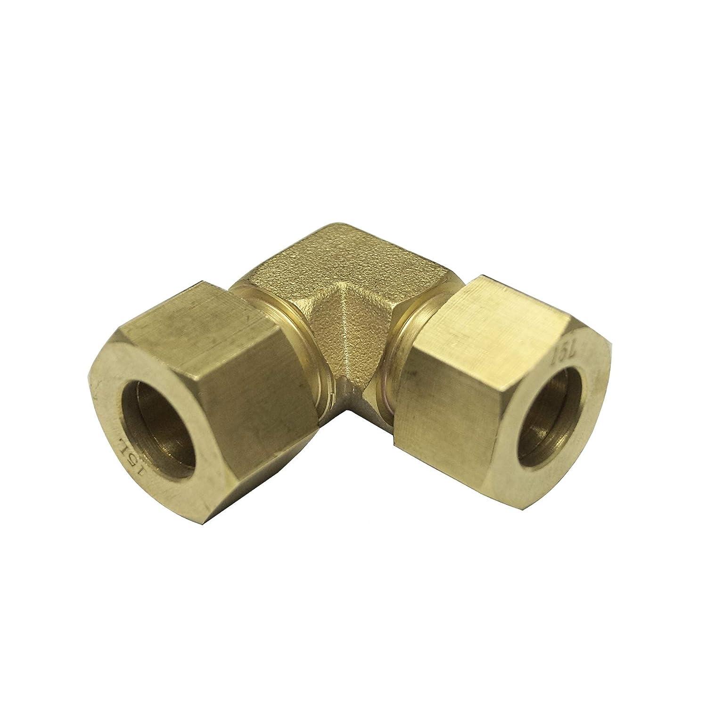 Brass Material 12L for 12MM OD Tube 90 Degree Elbow Light Series