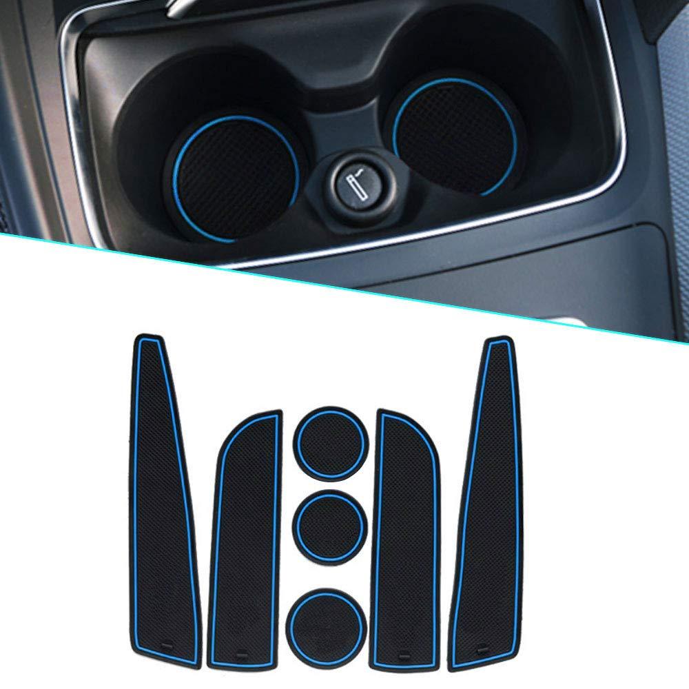 Para 2012 2013 MINI Alfombrilla de Goma Antideslizante Alfombrillas Puerta Interior 7 piezas por juego Rojo Muchkey Interior Puerta Seguridad Pad Cup Alfombrillas