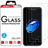 """CaseBank iPhone 8 Plus 7 Plus Screen Protector Tempered Glass, Crystal Clear, 9H Hardness, 3D Touch Compatible, Glass Screen Protector for Apple iPhone 8 Plus i Phone 7 Plus 5.5""""(3-Pack)"""