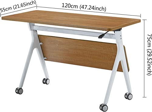 IBAMA Office Foldable Conference Training Table Desk 47.24×29.52 Inches
