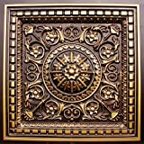 D215 24'' x 24'' PVC Antique Gold Ceiling Tiles