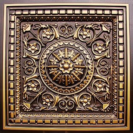 d215 24 x 24 pvc antique gold ceiling tiles - Antique Ceiling Tiles
