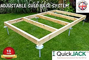 Cobertizo BASE sistema rápido Jack para suave Base de superficies apto for- 8ftX7ft–8ftx8ft–10ftx6ft–8Ftx10Ft–Kit 3