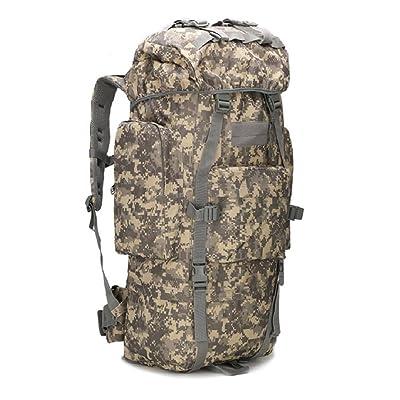 LF&F Outdoor 65-75L grande capacité sac d'alpinisme camping sac de camping sac de randonnée housse étanche sac à bandoulière camouflage sac à dos militaire sac à dos tactiq