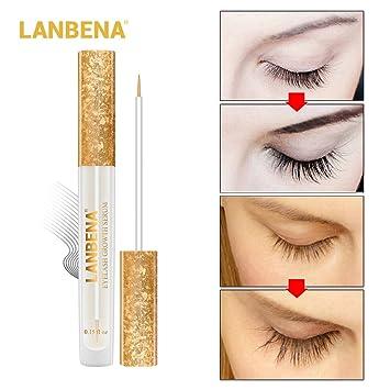 f7478f67b3b Amazon.com: LANBENA Eyelash Enhancer,Lash Booster Serum,Eyelash Growth  Serum for Longer, Thicker, Fuller Eyelash: Beauty