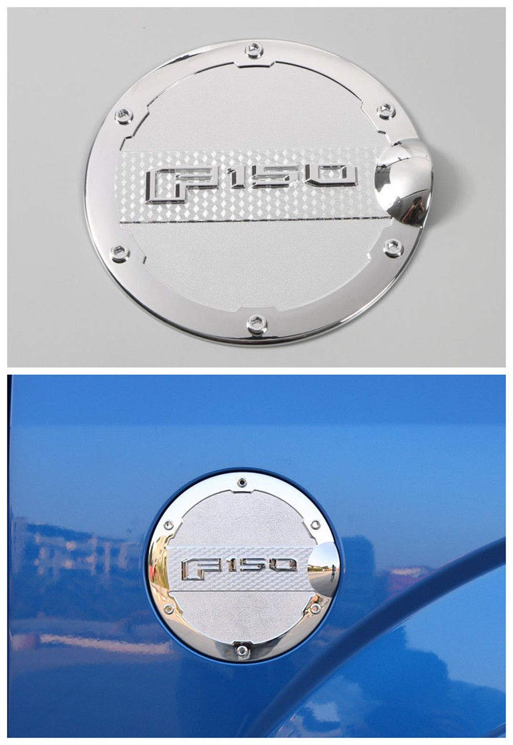 Chrome Gas Door Cover Fuel Tank Oil Cap Trim For Ford F-150 F150 2015-2017