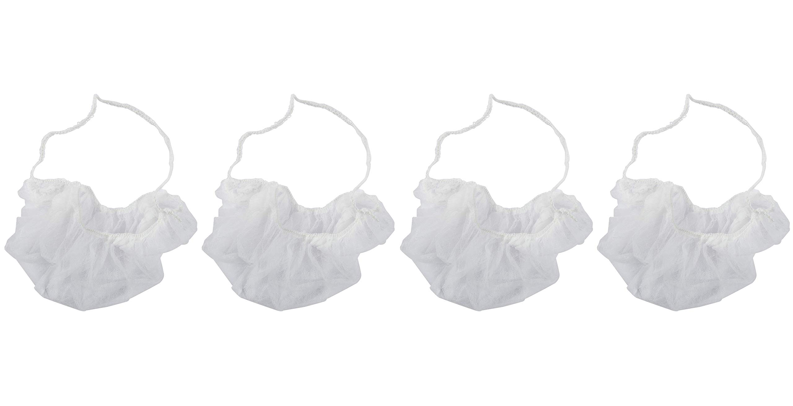 White Latex Free Polypropylene Beard Protector, Package of 100 (Fоur Paсk) by ROYAL