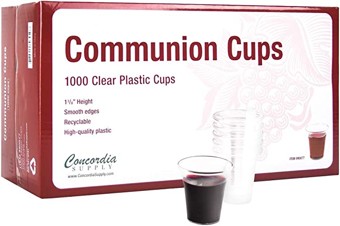 """Disposable Communion Cups Box of 100 1-3//8/"""" High"""