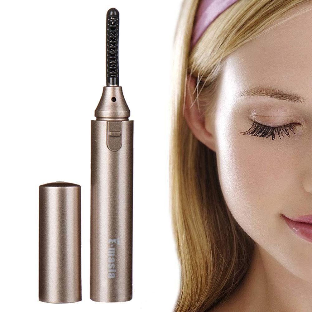 Heated Eyelash Curler, Mini Electric Eyelash Curler Brush, Eyelash Curler with Comb Long Lasting Curled, Portable Electric Makeup Eye Lashes Brush (white) Gogogu ORCL-1212-0651-GIRL-PK
