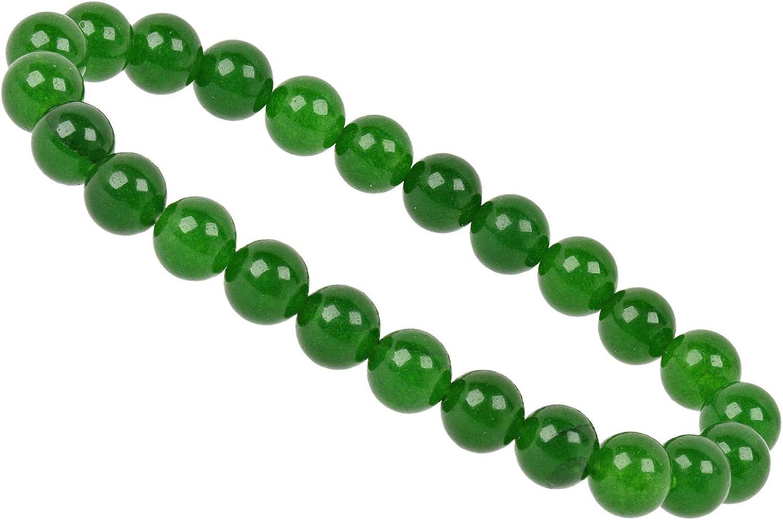 Power Bead Flex de pulsera Stretch pulsera verdadera nefrita Jade Verde