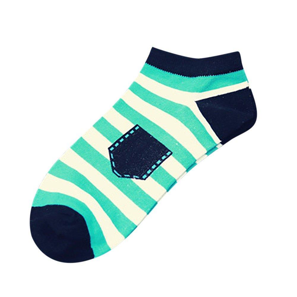 Amazon.com: AGUIguo Unisex Stripe Cotton Skateboard Sock Comfortable ...