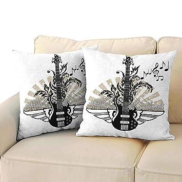 Magnificent Amazon Com Ediyuneth Pillowcases Bulk Guitar Geometrical Pabps2019 Chair Design Images Pabps2019Com