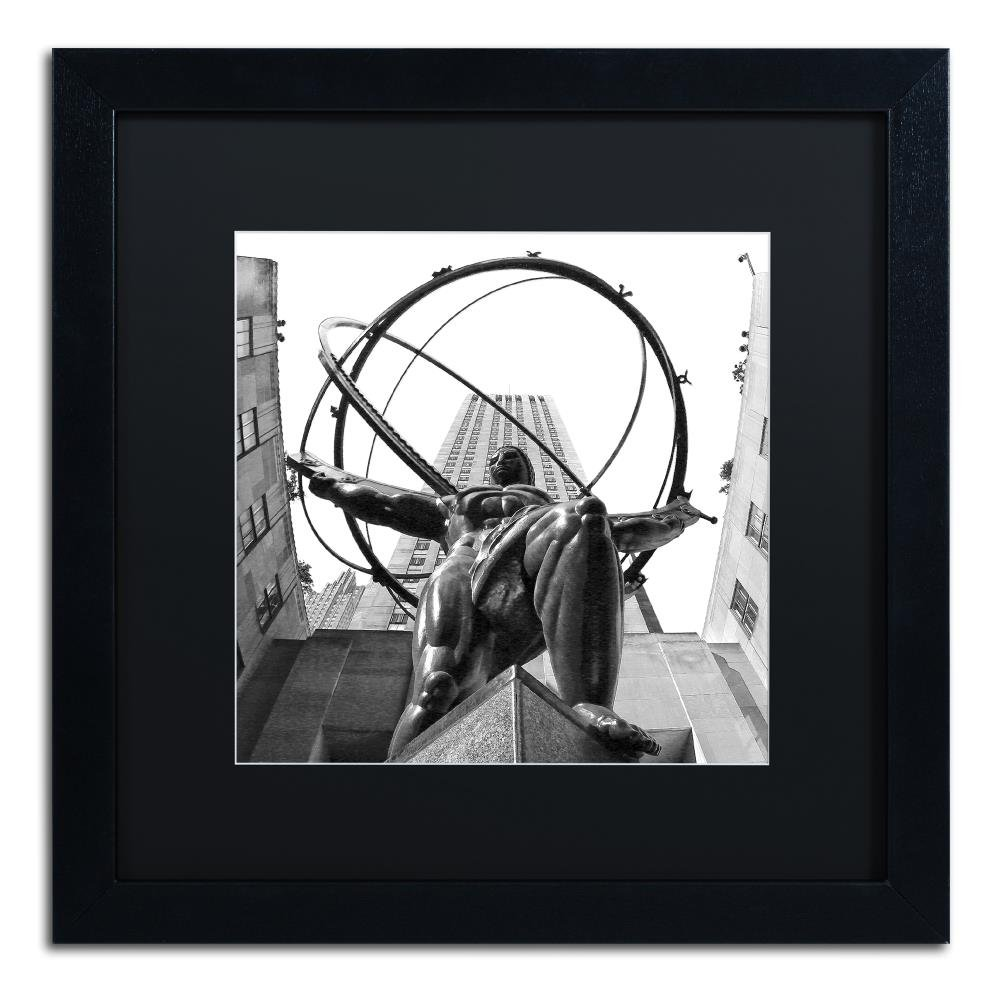 Amazon com atlas rockefeller center by cateyes black matte black frame 11x11 inch home kitchen