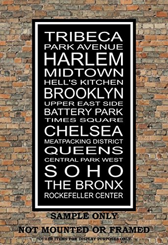 New York City Neighborhoods Subway Sign Print - Tribeca, Park Ave, Harlem, Brooklyn, The Bronx - Multiple - Broadway Nyc Ave