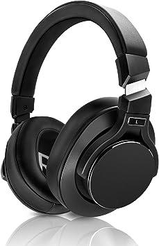 Mixcder E8 Auriculares Bluetooth Cancelación Activa de Ruido con Micrófono, Cascos Inalámbricos de Diadema, Plegable con Estéreo, Deep Bass, Diseño Portátil, para iPhone, Android, PC, TV-Negro: Amazon.es: Electrónica