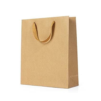 12pcs/lot marrón papel Kraft bolsa de regalo con asa Navidad ...