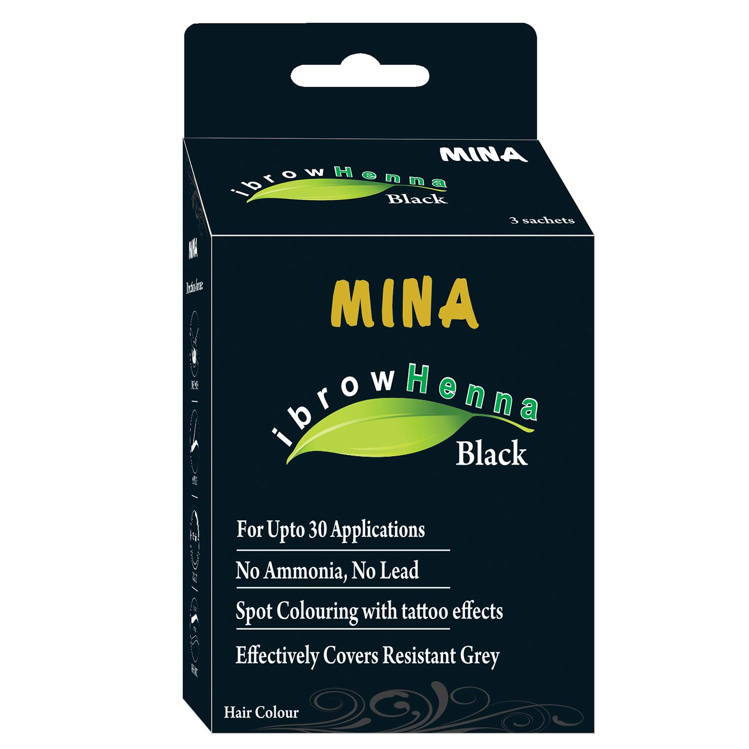 Amazon Com Mina Eyebrow Henna Dark Brown Regular Pack Tinting