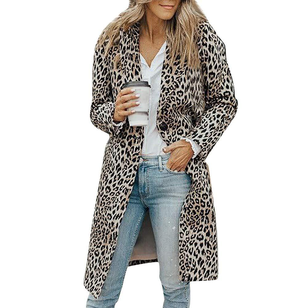Millenniums Femme Manteau Longue Imprimé Léopard Grande Taille Bouton Veste Sweatshirt Veste Jacket à Manches Longues Épais Hoodie Hoody Outwear Sport
